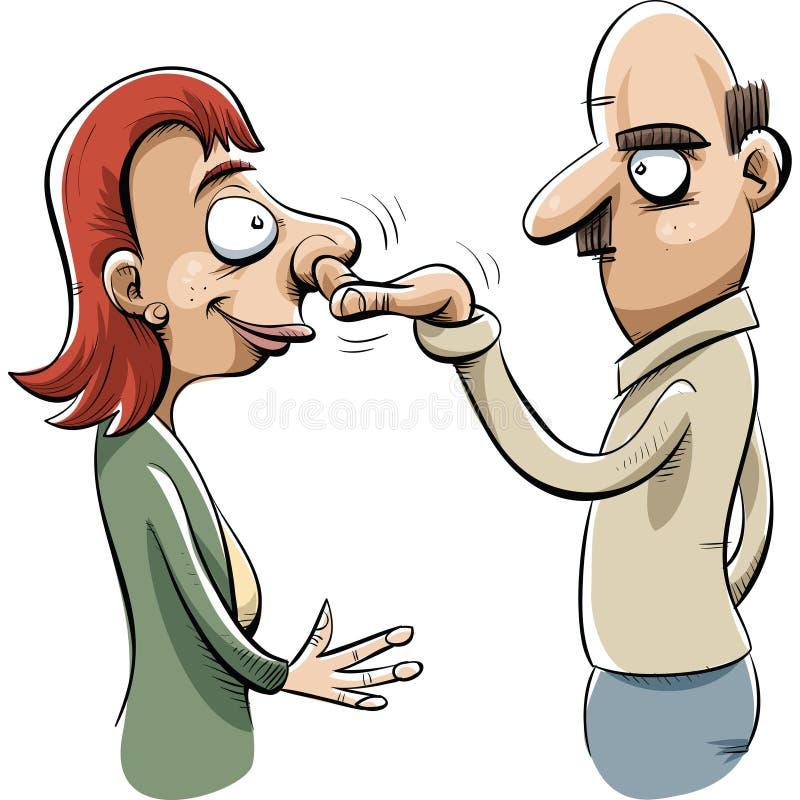 Raccoglitrice del naso illustrazione vettoriale