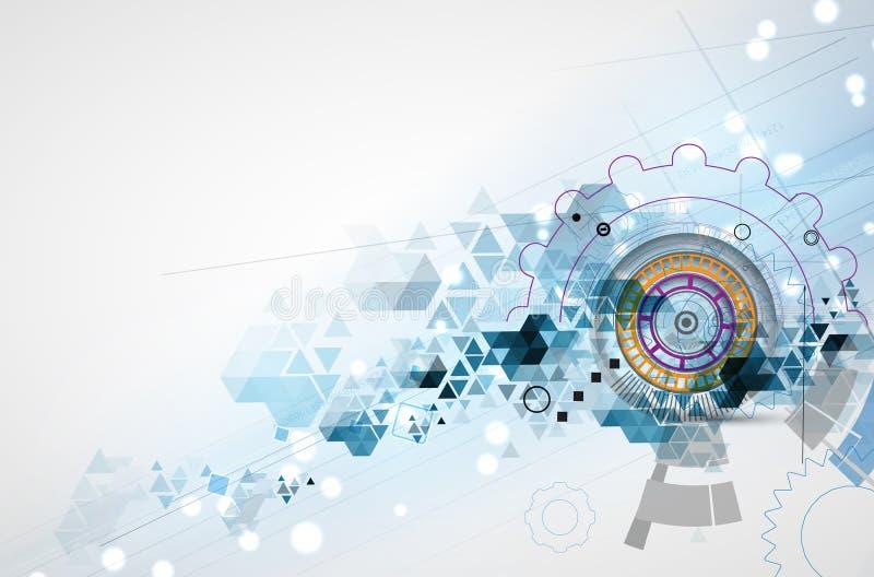 Raccolta astratta del fondo di tecnologia per le idee della soluzione di affari illustrazione di stock