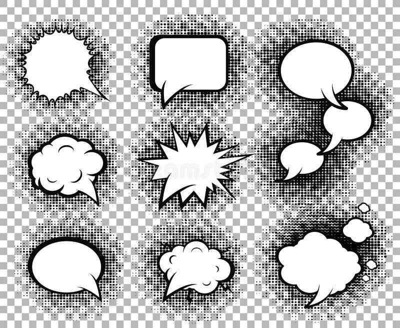 Raccolta comica delle icone dei fumetti royalty illustrazione gratis