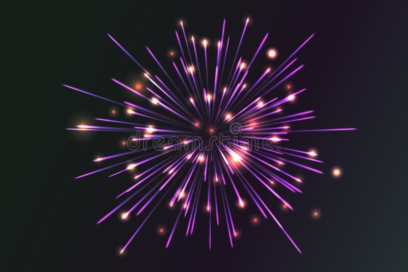 Raccolta d'ardore firework royalty illustrazione gratis
