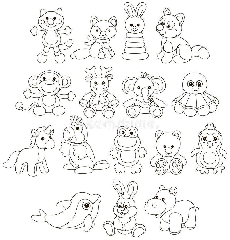 Raccolta degli animali divertenti del giocattolo royalty illustrazione gratis