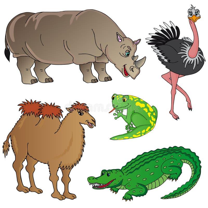 Raccolta 02 degli animali selvatici illustrazione di stock
