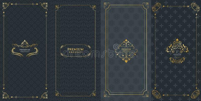Raccolta degli elementi, delle etichette, dell'icona e dei telai di progettazione per packag royalty illustrazione gratis