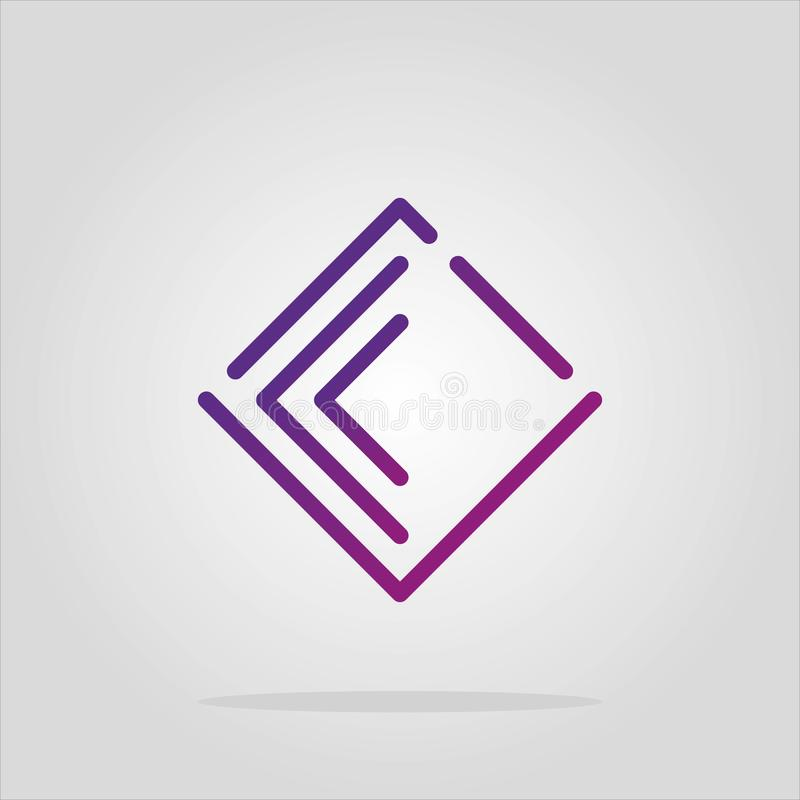 Raccolta degli elementi di logo del romb dell'estratto di vettore Progettazione materiale, piano, stili di linea-arte Simbolo del illustrazione vettoriale