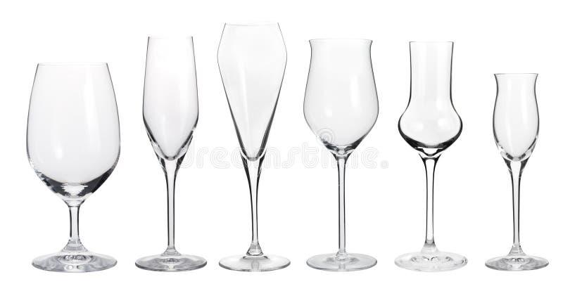 Raccolta dei bicchieri di vino immagini stock libere da diritti