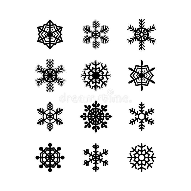 Raccolta dei fiocchi di neve. Vettore royalty illustrazione gratis