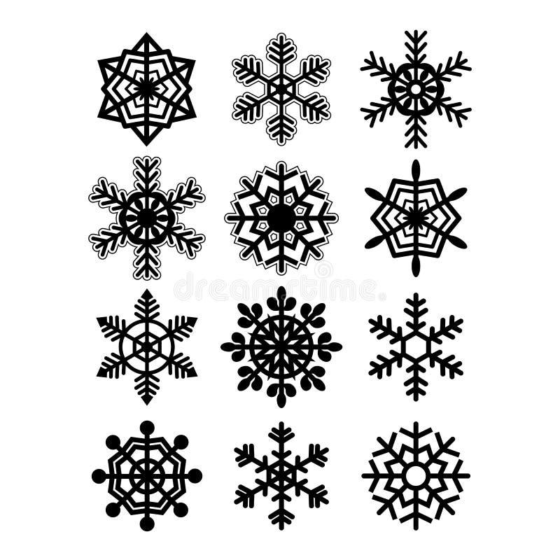 Raccolta dei fiocchi di neve. Vettore illustrazione vettoriale