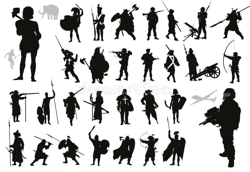 Raccolta dei guerrieri Vettore royalty illustrazione gratis