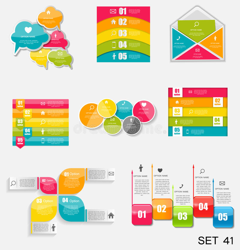 Raccolta dei modelli di Infographic per il vettore Illustra di affari illustrazione vettoriale