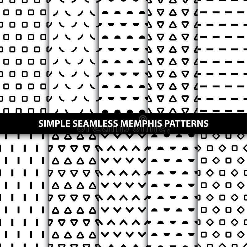 Raccolta dei modelli geometrici senza cuciture semplici illustrazione vettoriale