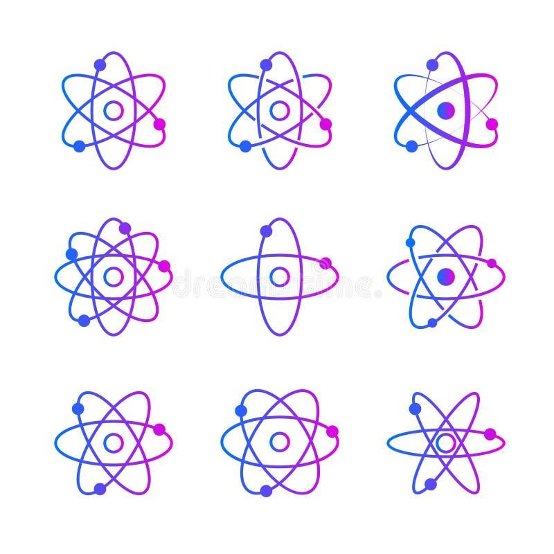 Raccolta dei orbitales atomici illustrazione vettoriale
