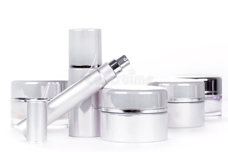 Raccolta dei prodotti della stazione termale dello skincare fotografia stock