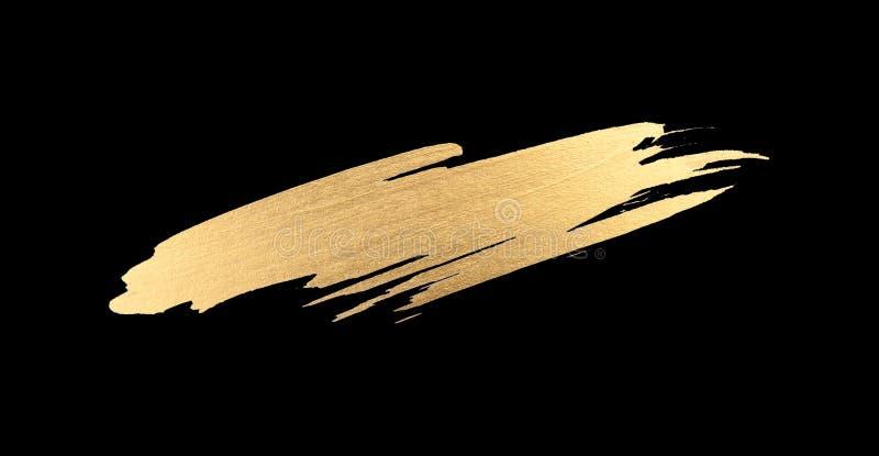 Raccolta del colpo della spazzola di struttura dell'acquerello dell'oro fotografie stock