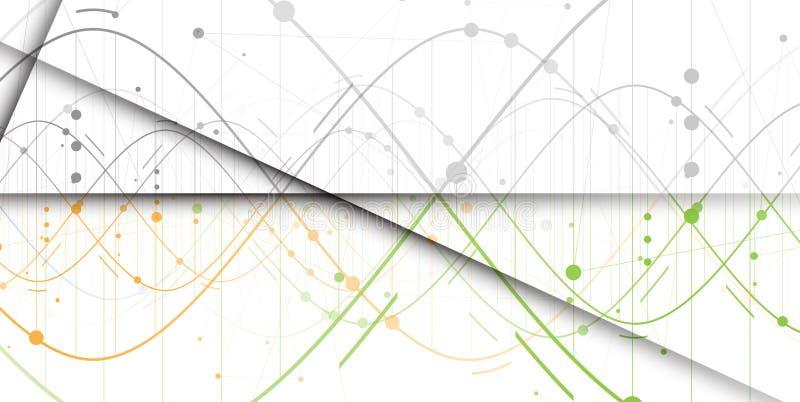 Raccolta del fondo dell'estratto del DNA Interf futuristico di tecnologia illustrazione di stock