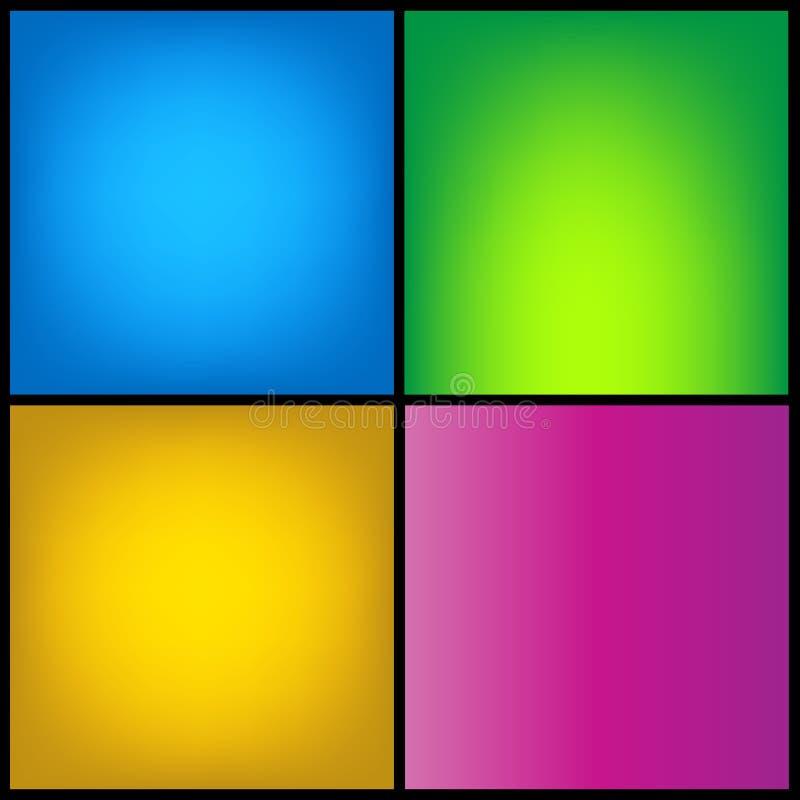 Raccolta del fondo di seta regolare di colore vibrante di pendenza con con effetto dell'ombra illustrazione vettoriale