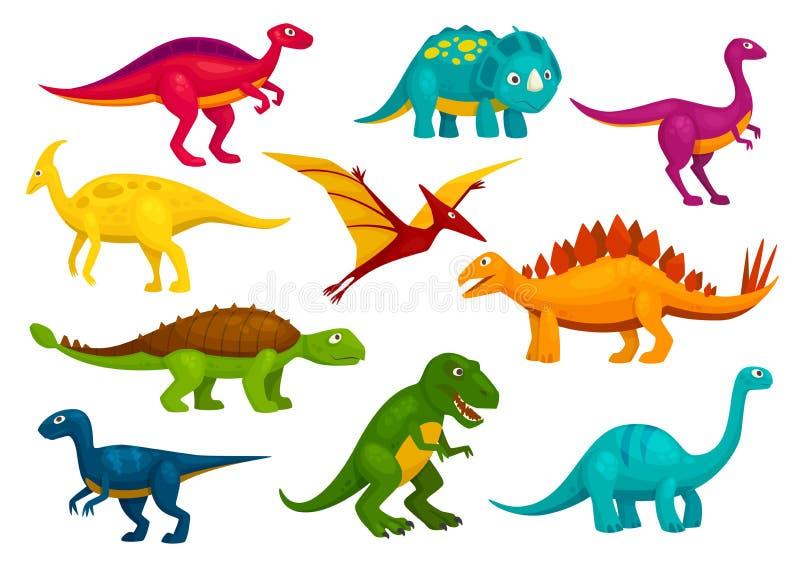 Raccolta del fumetto dei dinosauri Animali di vettore illustrazione vettoriale
