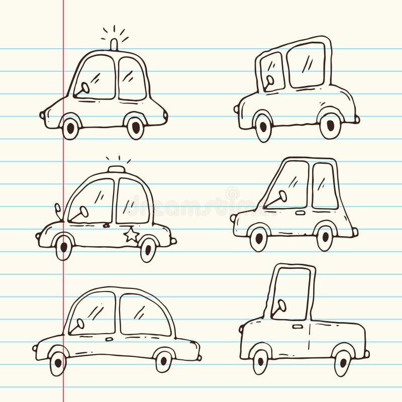 Raccolta del fumetto dell'automobile royalty illustrazione gratis