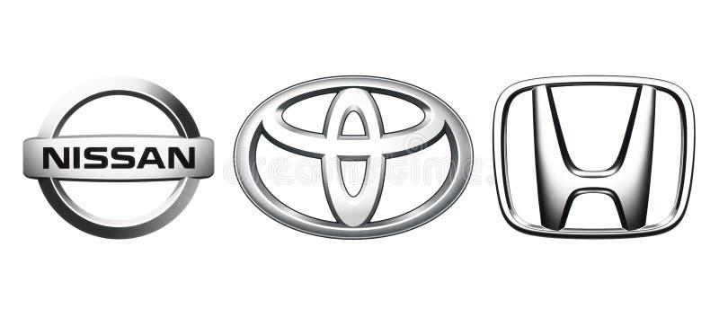 Raccolta del logos popolare dell'automobile del Giappone