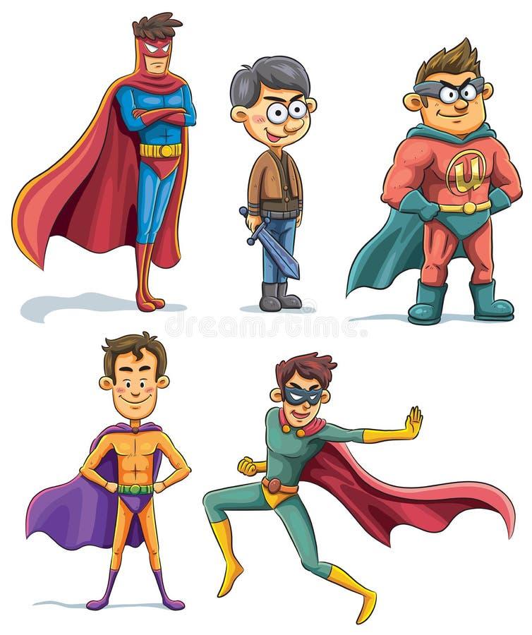 Raccolta del supereroe royalty illustrazione gratis