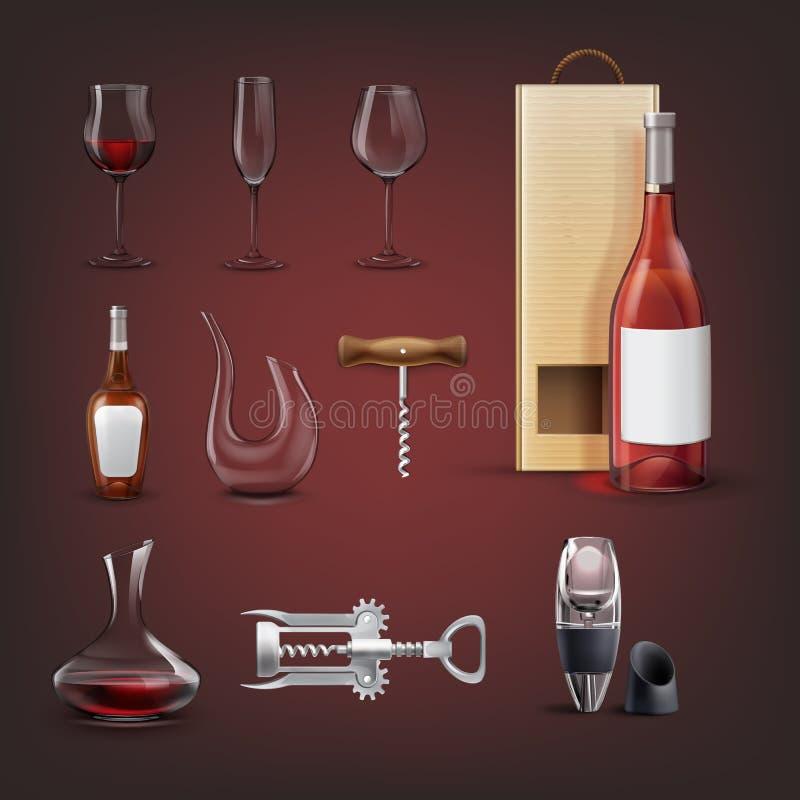 Raccolta del vino di vettore royalty illustrazione gratis