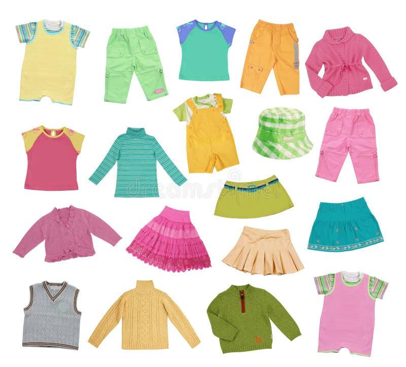 Raccolta dell'abbigliamento dei bambini illustrazione di stock