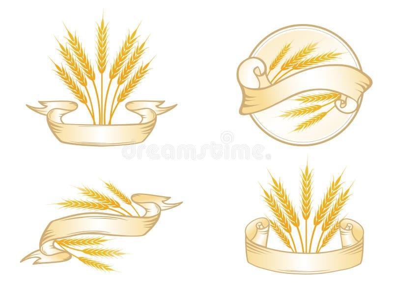 Insieme di etichetta del frumento royalty illustrazione gratis