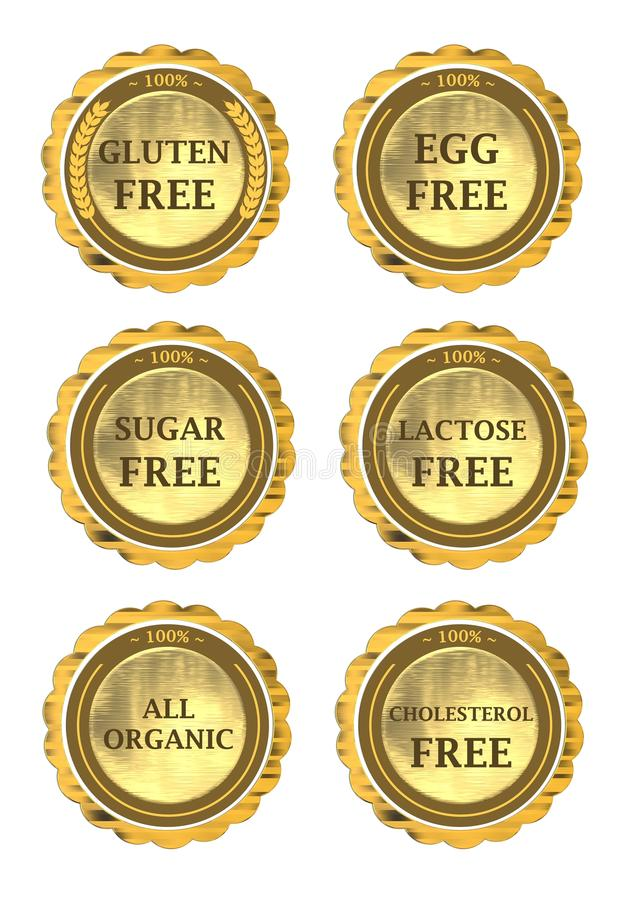 Raccolta dell'icona di dieta royalty illustrazione gratis