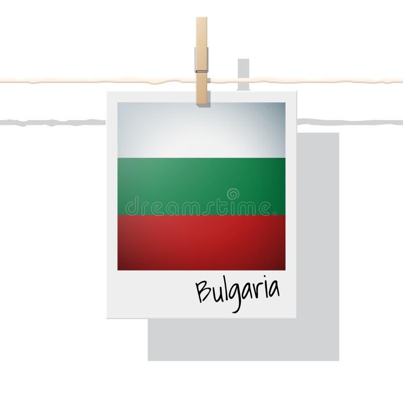 Raccolta della bandiera di paese europeo con la foto della bandiera della Bulgaria illustrazione di stock