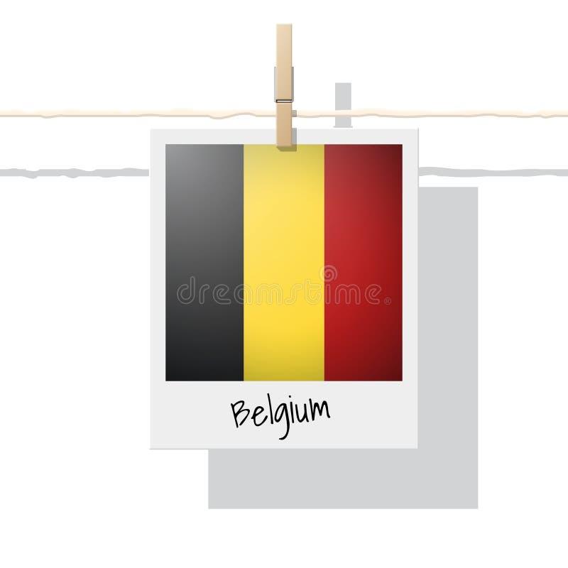 Raccolta della bandiera di paese europeo con la foto della bandiera del Belgio royalty illustrazione gratis