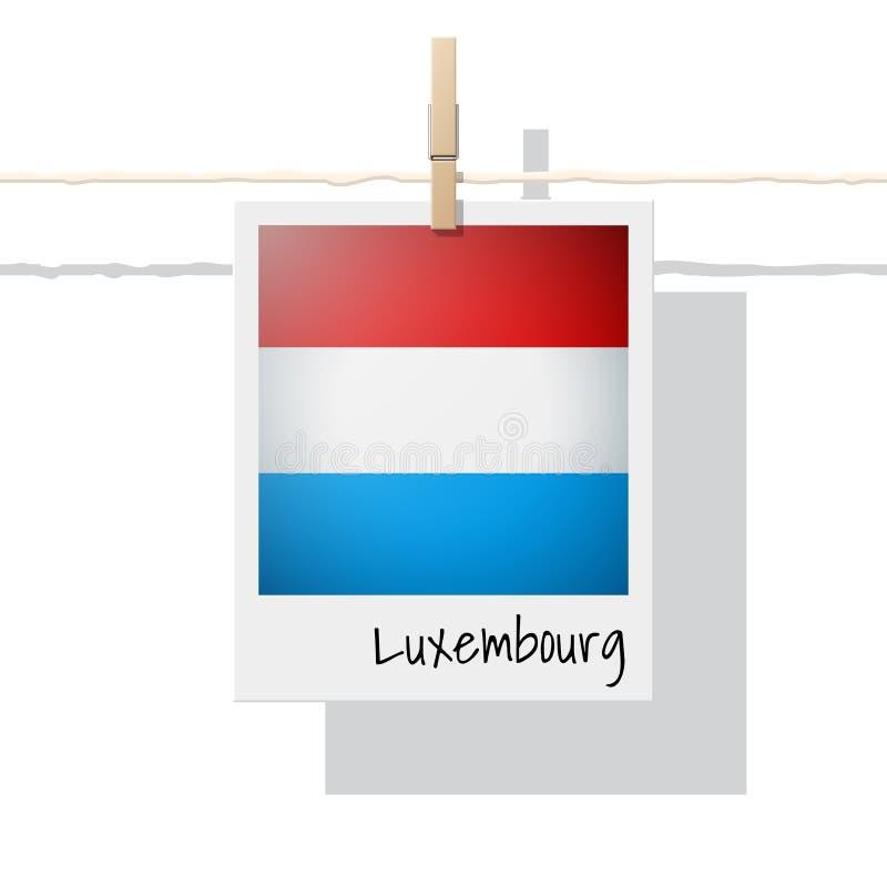Raccolta della bandiera di paese europeo con la foto della bandiera del Lussemburgo illustrazione vettoriale
