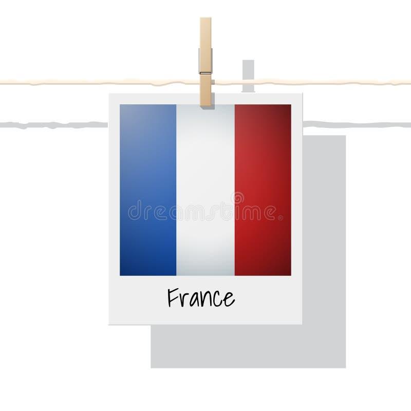 Raccolta della bandiera di paese europeo con la foto della bandiera della Francia royalty illustrazione gratis