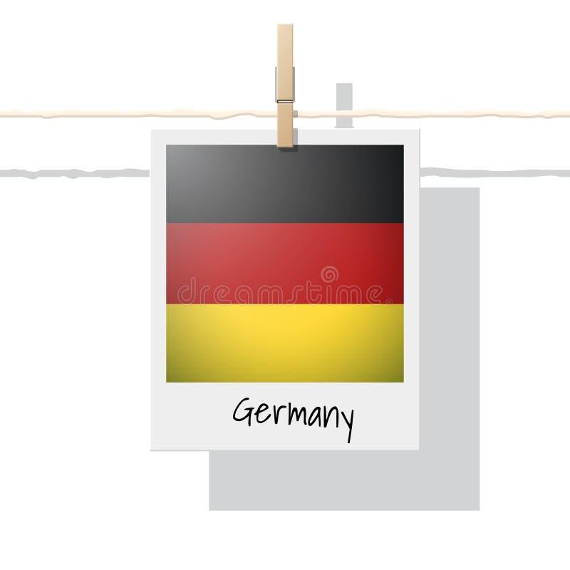 Raccolta della bandiera di paese europeo con la foto della bandiera della Germania royalty illustrazione gratis