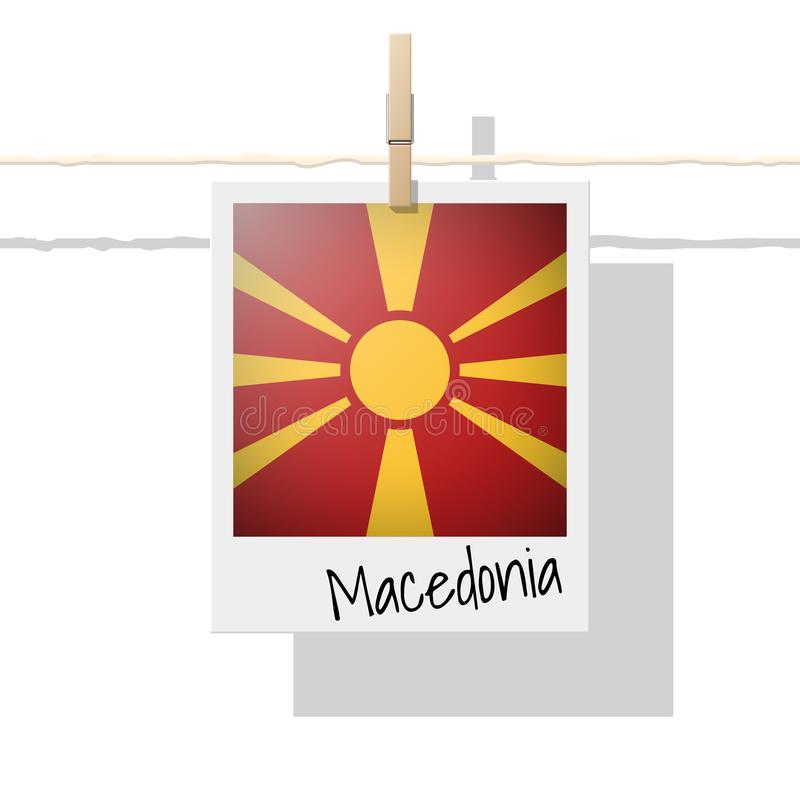 Raccolta della bandiera di paese europeo con la foto della bandiera della Macedonia royalty illustrazione gratis