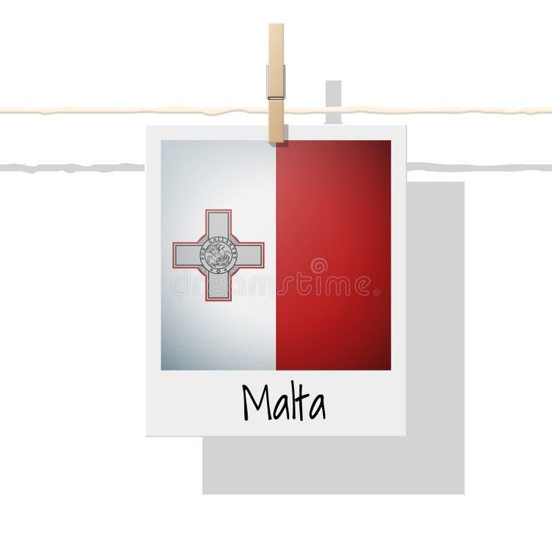 Raccolta della bandiera di paese europeo con la foto della bandiera di Malta royalty illustrazione gratis
