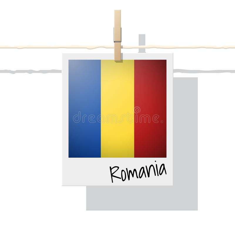 Raccolta della bandiera di paese europeo con la foto della bandiera della Romania royalty illustrazione gratis