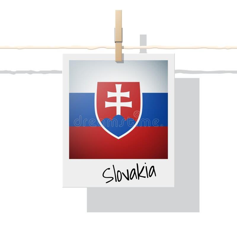 Raccolta della bandiera di paese europeo con la foto della bandiera della Slovacchia royalty illustrazione gratis