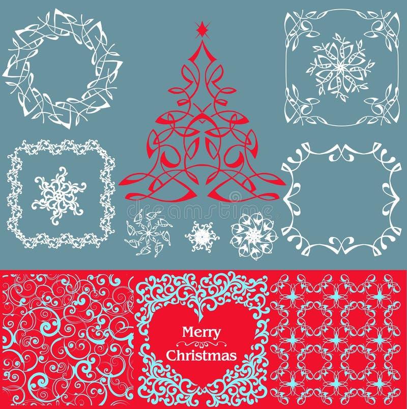 Raccolta della decorazione di Natale illustrazione vettoriale