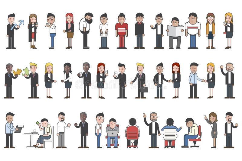 Raccolta della gente di affari degli avatar royalty illustrazione gratis