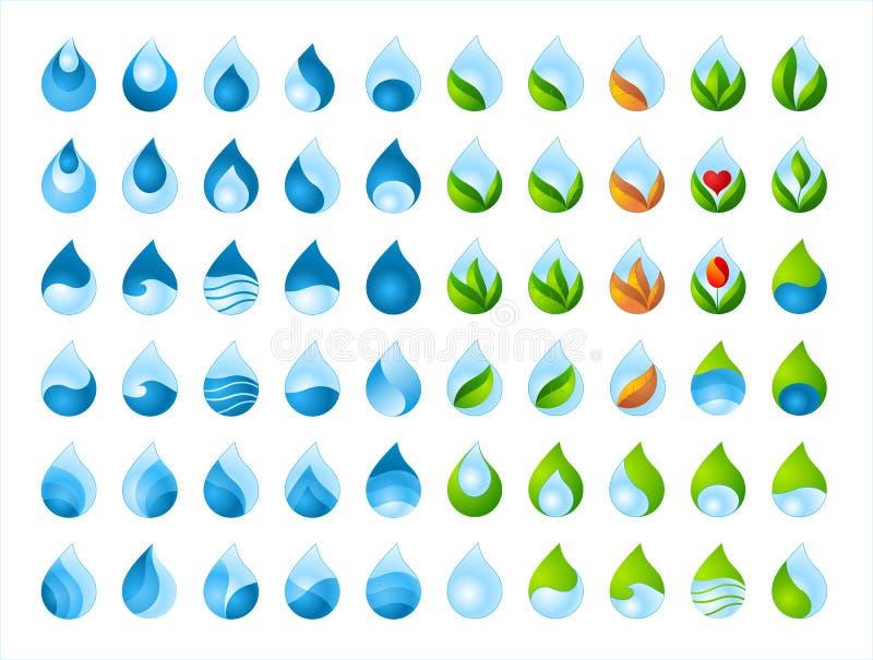 Raccolta della goccia di acqua fotografia stock libera da diritti