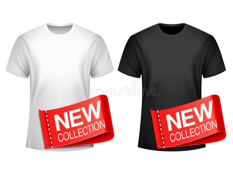 Raccolta della maglietta degli uomini nuova fotografie stock
