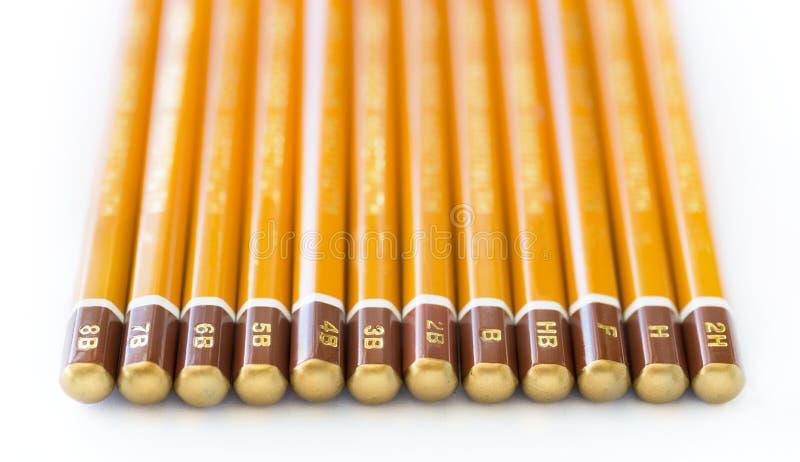 Raccolta della matita della grafite fotografie stock libere da diritti