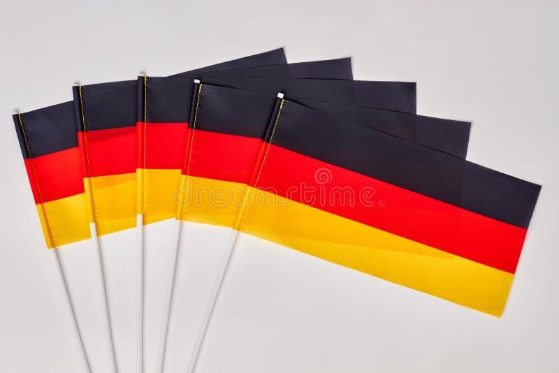 Raccolta delle bandiere di deutsch fotografia stock libera da diritti