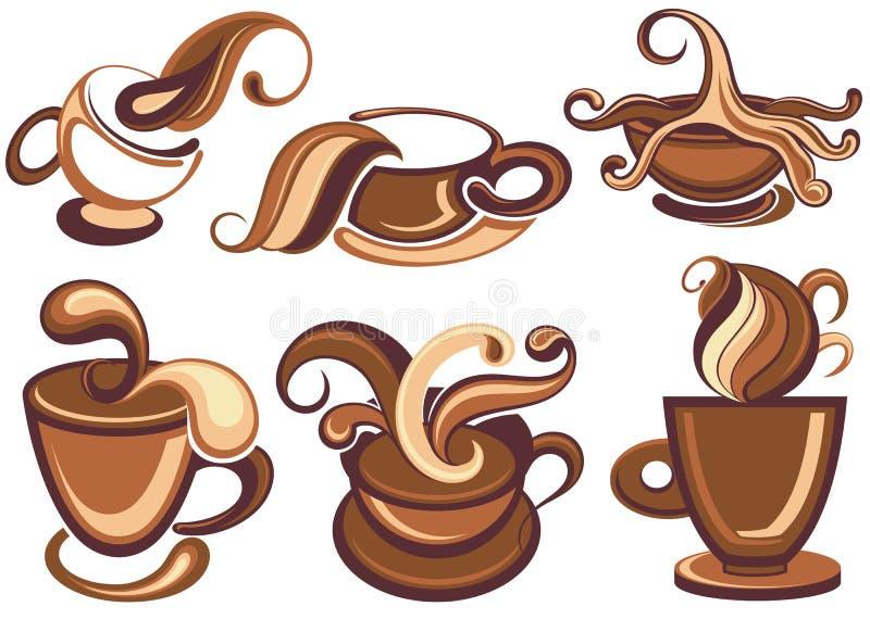 Raccolta delle icone del caffè royalty illustrazione gratis