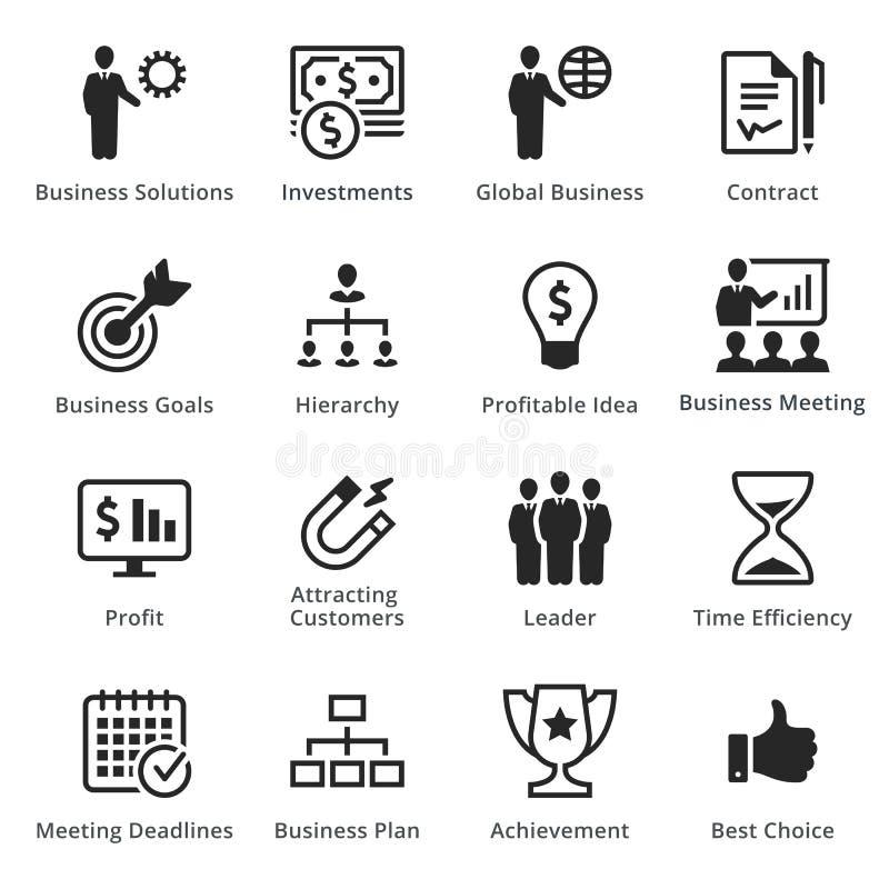Raccolta delle icone di affari - insieme 2 fotografia stock libera da diritti