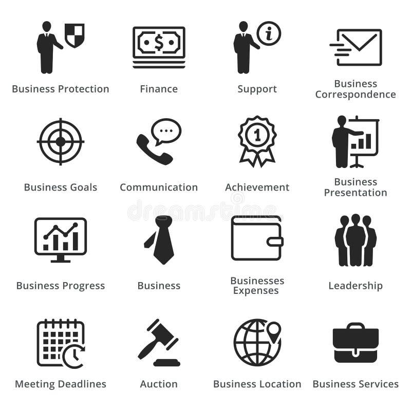Raccolta delle icone di affari - insieme 4 immagini stock libere da diritti