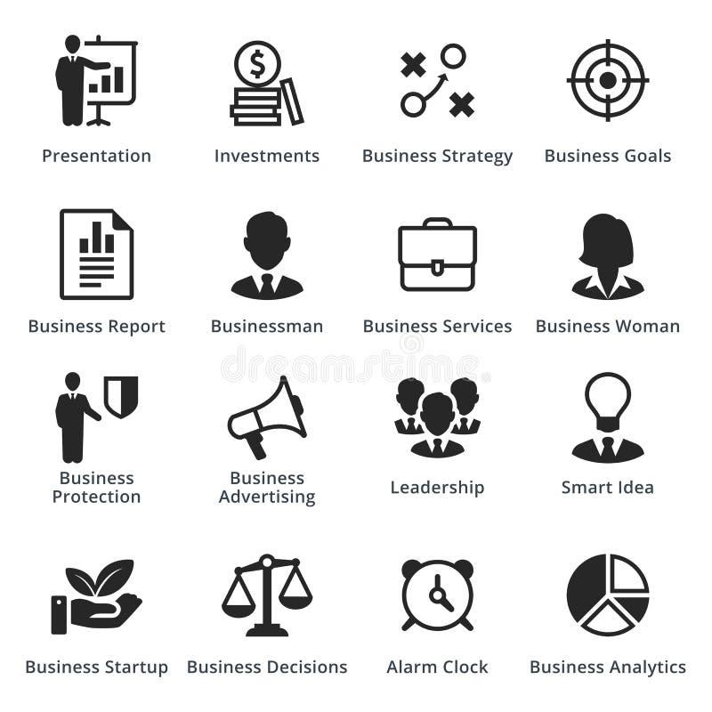 Raccolta delle icone di affari - insieme 3 fotografia stock libera da diritti