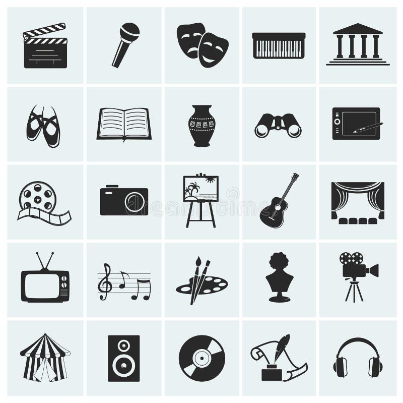 Raccolta delle icone di arti di vettore. illustrazione vettoriale
