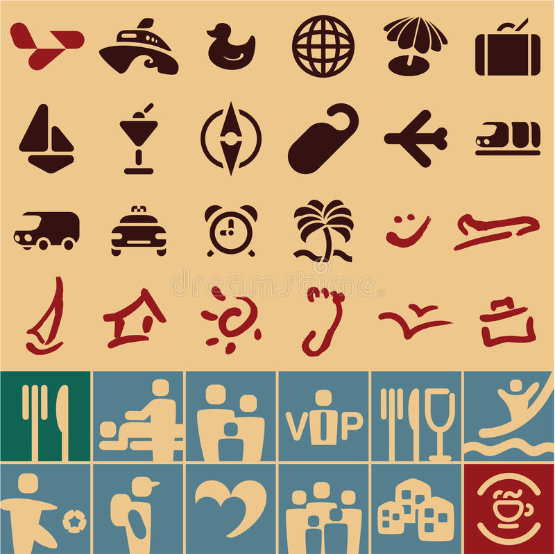 Raccolta delle icone di viaggio