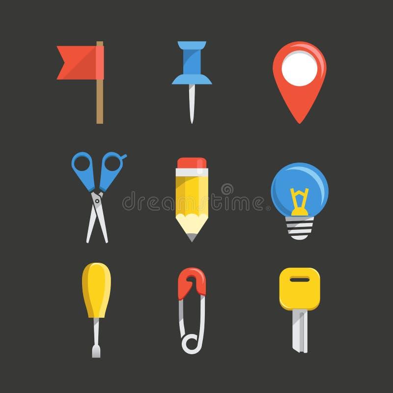 Raccolta delle icone di web di colore royalty illustrazione gratis