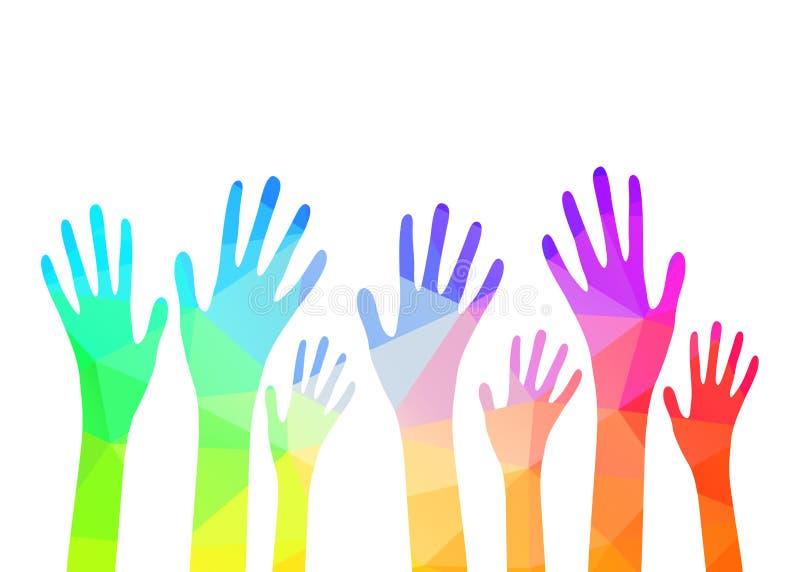 Raccolta delle mani multicolori Vettore ENV 10 royalty illustrazione gratis